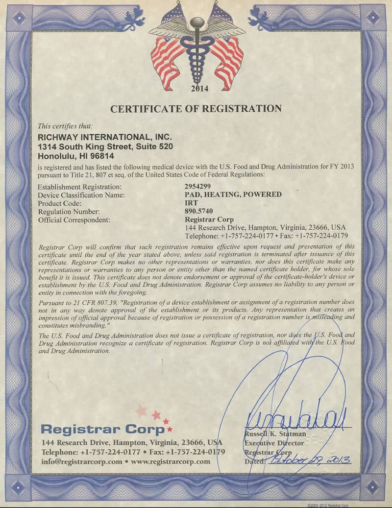 BIomat 7000mx FDA medical device certification