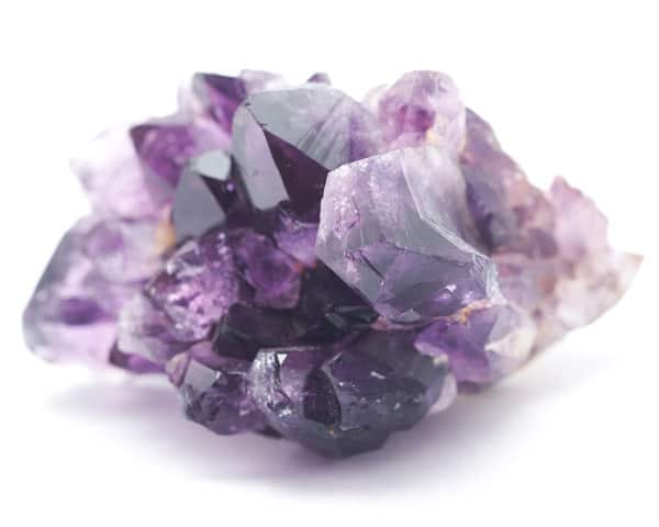 Amethyst crystals in biomat